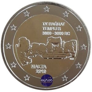 Piece-de-2-euros-commemorative-MALTE-2019-Ta-039-Hagrat-UNC-400-000-exemplaires