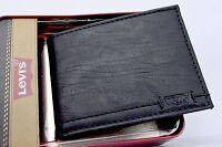 Wallet Levis Bifold Soft Leather Black Slimfold Billfold Gift Box Men