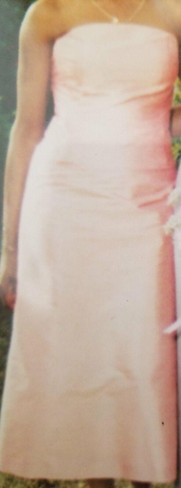 Ann Taylor  Silk Shantung 2 piece Dress Größe 4 in Peach