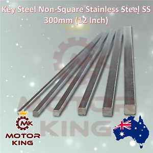Key Steel Non-Square Stainless Steel SS 300mm 12 Inch Long