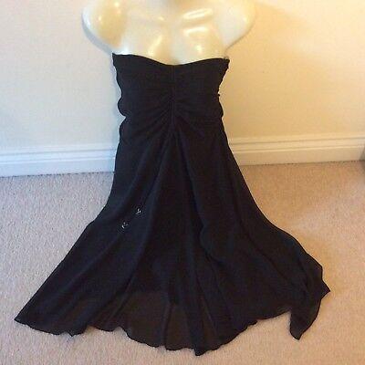 Black strapless dress mexx size 14 party
