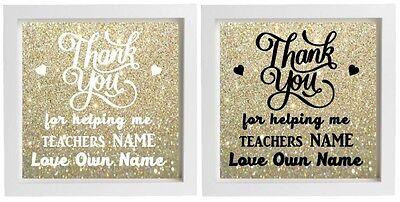 Vinyl Sticker 20 x 20cm A TEACHER TAKES A HAND quote DIY End of Term Gift