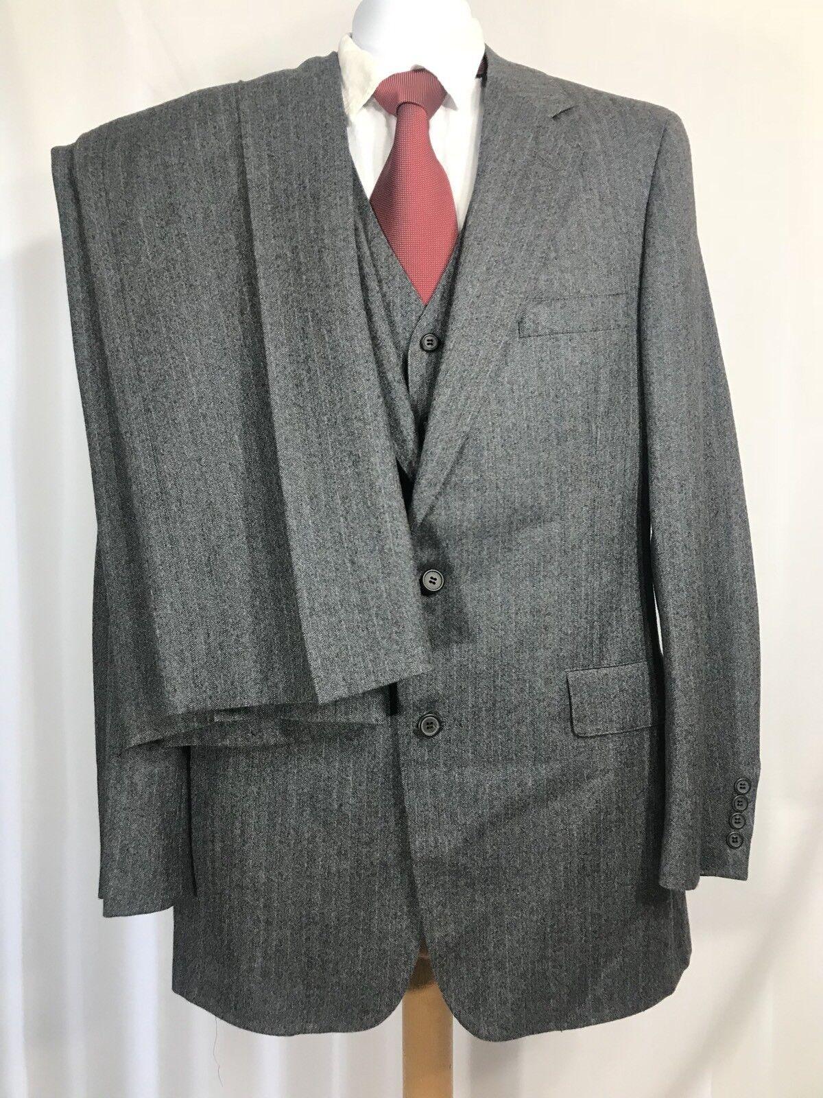 NORDSTROM Men grau Three Piece Suit Coat 42 Pant 34 X 36