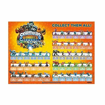 "Skylanders Giants Complete Action Figure Checklist Game Poster 14/"" x 23/"""