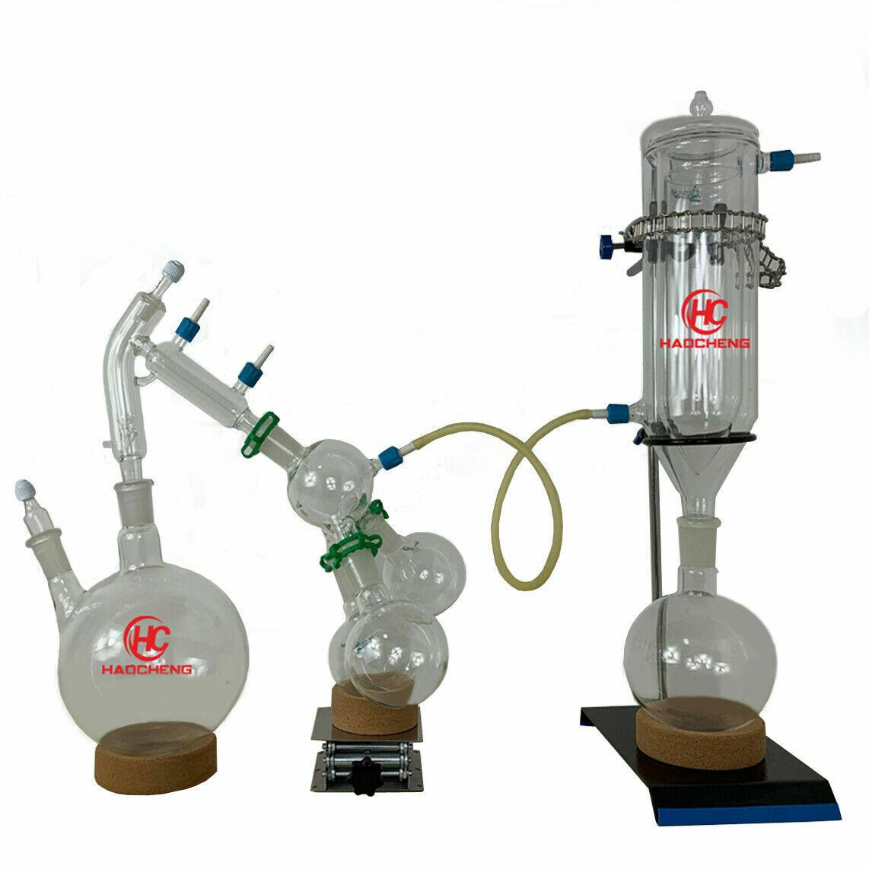 2L-5L Laboratorio Distillatore Essenziale Oilo Acqua Apparato Cristalleria Kits
