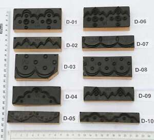 Ornamente Jugendstil Wäschestempel Stempel Stoffstempel Textildruck Zierlinien