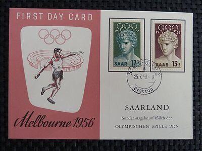 Motive Saar Mk 1956 371/72 Olympia Olympics Maximumkarte Carte Maximum Card Mc Cm A8905 Farben Sind AuffäLlig