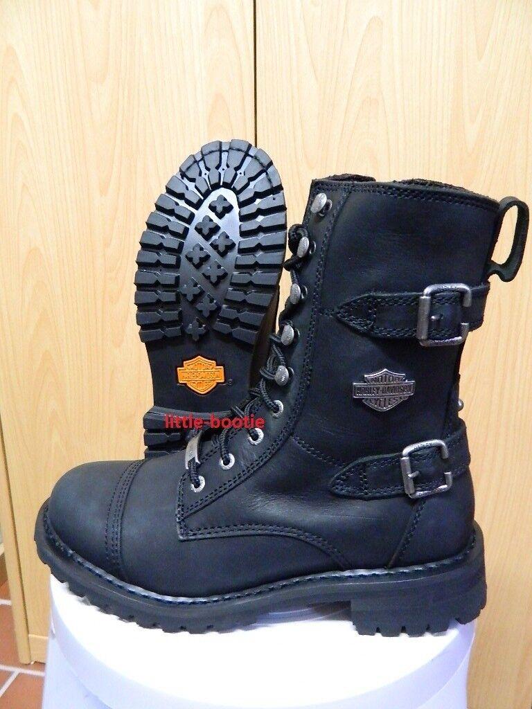 Harley-Davidson botas botas señora botas de cuero 39/40/41 83853 balsa negro