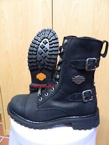 Details zu Harley Davidson Boots Stiefel Damen Leder Boots 38394041 83853 Balsa schwarz