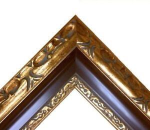 3-034-5-8-wide-Classic-GOLD-brown-Ornate-WOOD-Picture-Frame-701RP