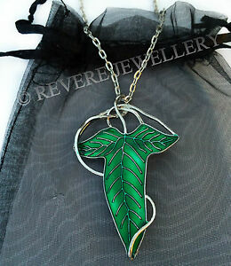 Elven-Leaf-Brooch-Necklace-Green-Hobbit-LOTR-Lord-of-The-Rings-Lorien-Enamel