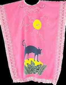 bffbfc37b5fdb chat félin Soleil Imprimé Animal Caftan Caftan Cool Paréo Plage Robe Long  Femmes