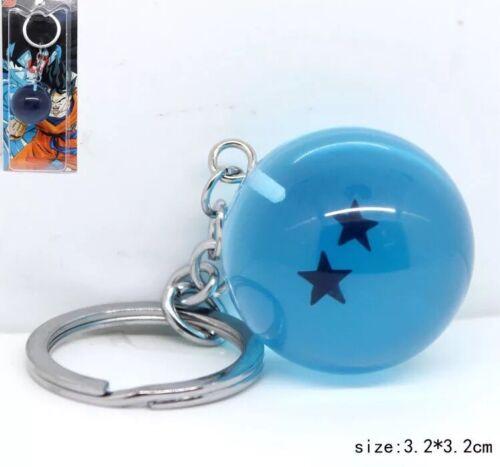 Dragon Ball Z DBZ Two Star Dragon Ball Keychain Blue 3cm US Seller