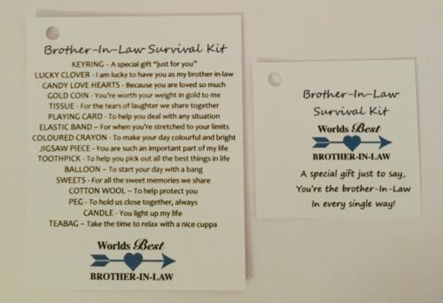 Brother-In-Law Survival Gift Kit With Keyring Gift//Present