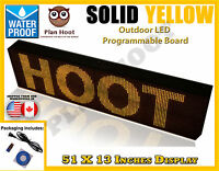Yellow - 51x13 Led Programmable Scrolling Sign - Outdoor (100% Water Proof)