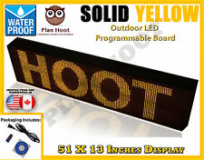 "YELLOW - 51""X13"" LED PROGRAMMABLE SCROLLING SIGN - OUTDOOR (100% Water Proof)"