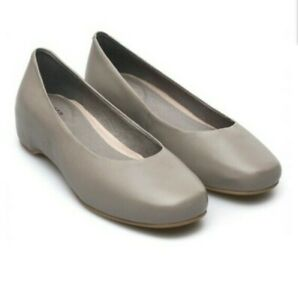 Details about CAMPER SERENA FLATS 37 6.5 Gray Leather Ballerina Slip On Minimalist Shoes Wedge