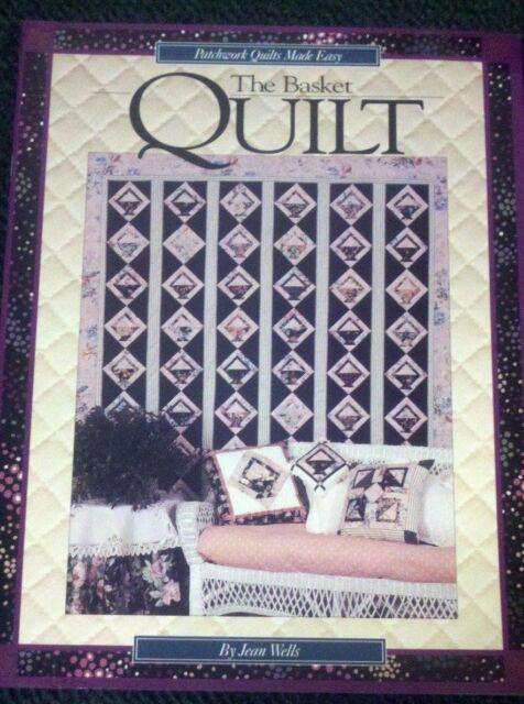 THE BASKET QUILT BOOK - 4 Patchwork Quilts (BasketTrellis) & 3 Pillow PATTERNS