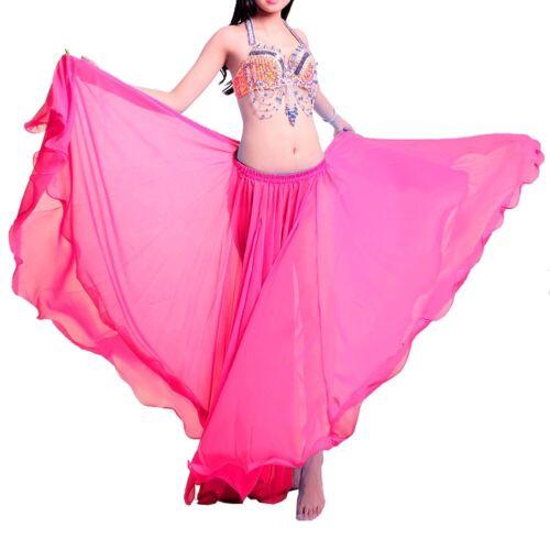 Belly Dance Skirt Costume Full Circle Skirt Tribal Chiffon Long Skirts Carnival