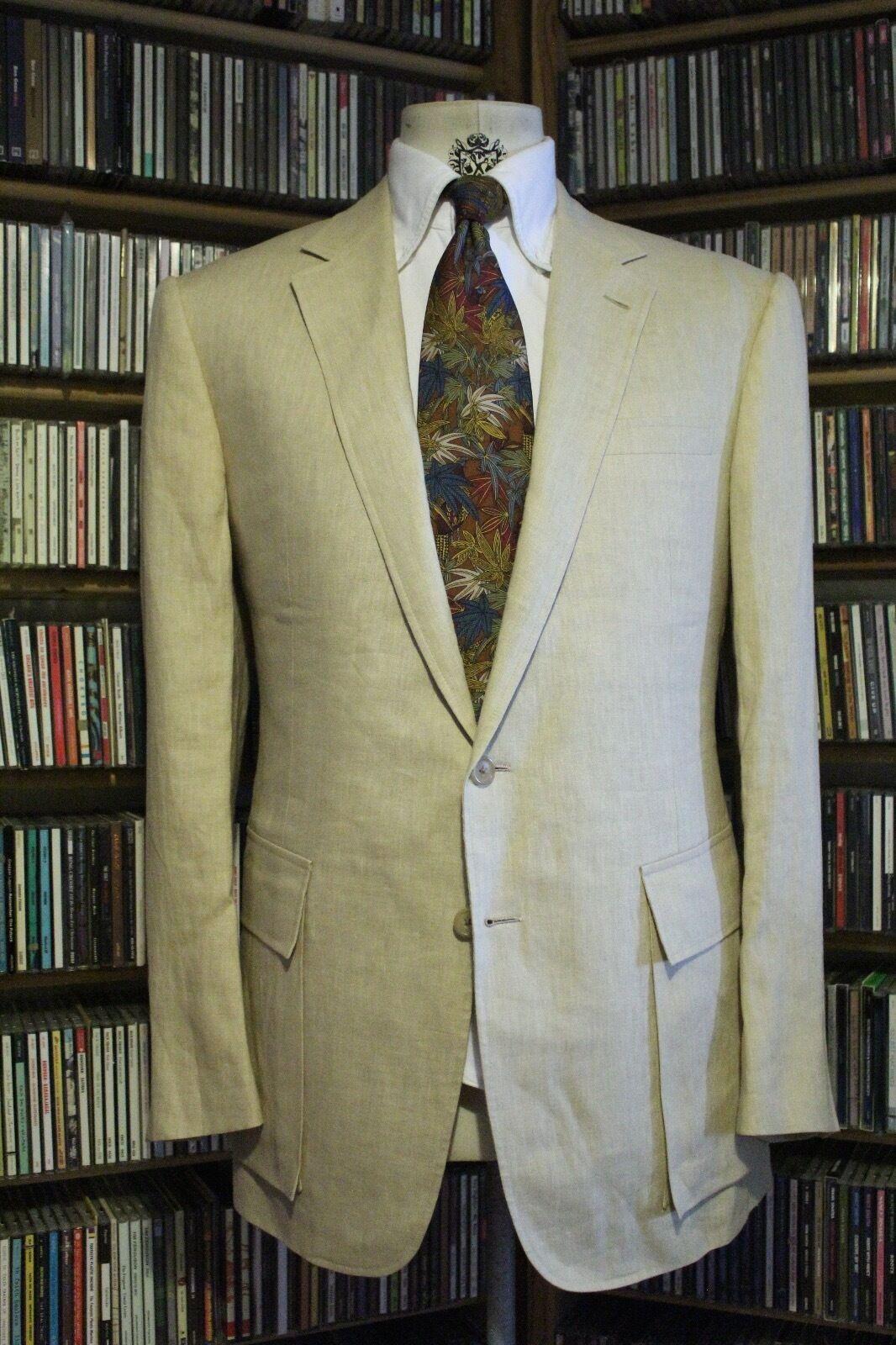NWOT Ralph Lauren Purple Label Tan Linen Sport Coat 42R