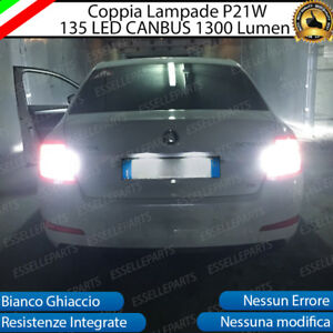 COPPIA-LUCI-RETROMARCIA-135-LED-P21W-BA15S-CANBUS-3-0-SKODA-OCTAVIA-III-6000K