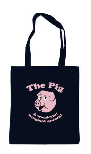 The Pig Stofftasche Blackschwein animal, tier