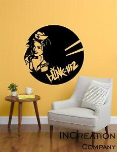 Blink 182 Vinyl Wall Decal Punk Rock Band Old School Enema ...