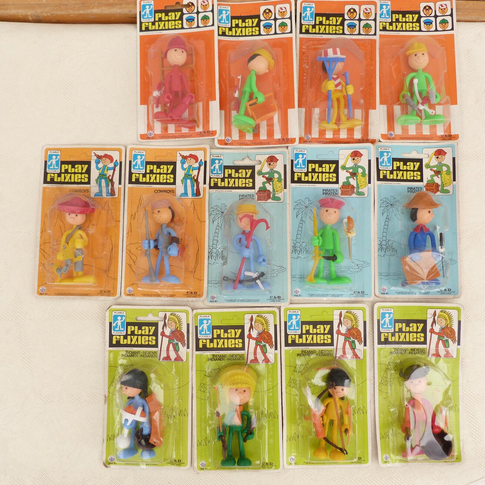 13 jouets figurines vintage PLAY FLIXIES dans leur boite d'origine
