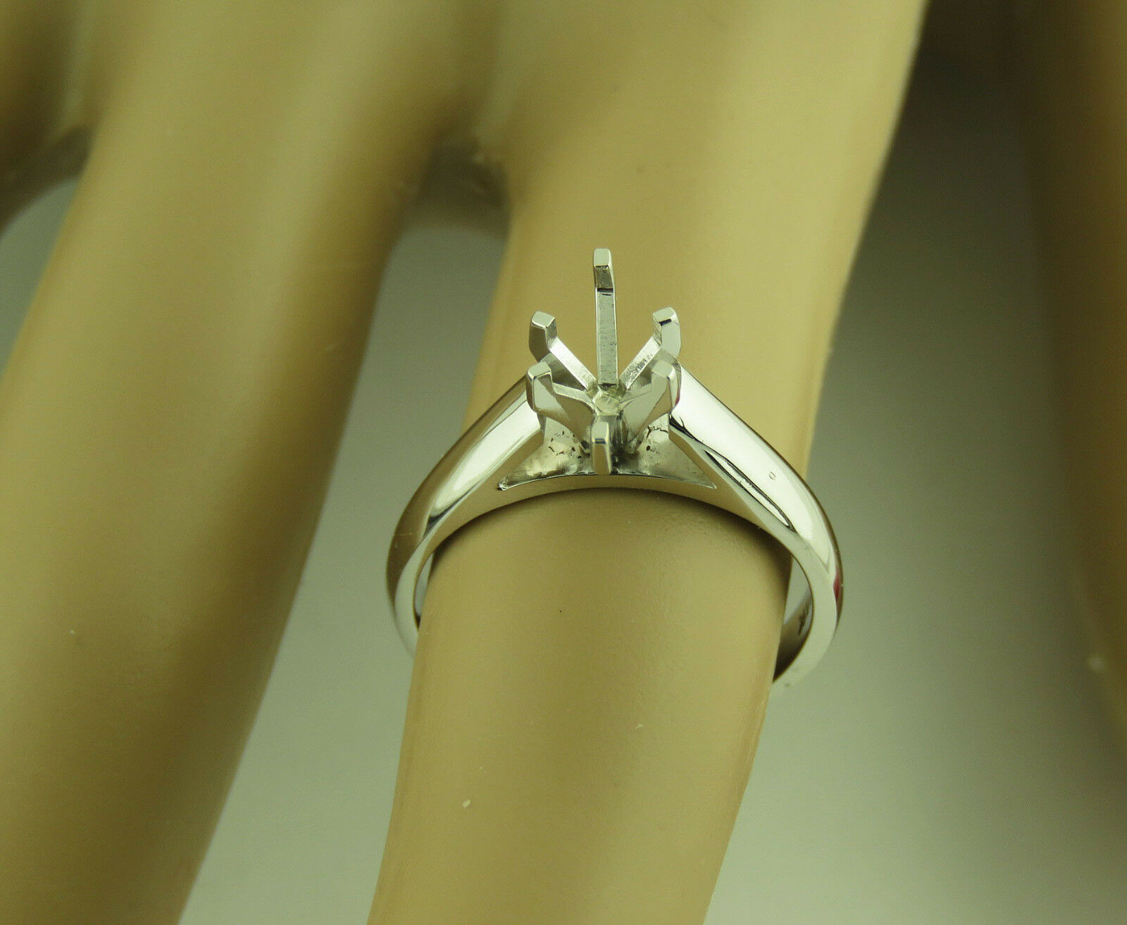 1Carat Marquise Solitaire ring setting 14K Solid White gold Mounting