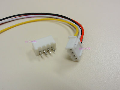 XH 2.5mm 4-Pin Connector Plug with Wire x 10 sets