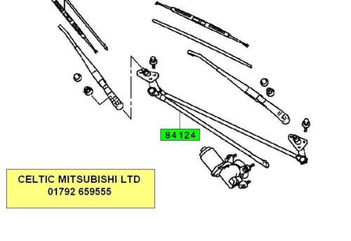 NEW MITSUBISHI 00-06 SHOGUN 3.2 DI-D WIPER LINKAGE COMPLETE WITH SPINDLES