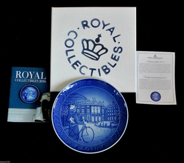 Royal Copenhagen Piatto Di Natale 2016 C/box E Certificato New Prima Scelta Pacchetto Elegante E Robusto
