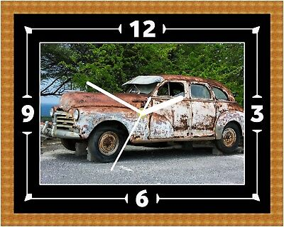 Chevrolet Ratrod Wall Clock Present Christmas Birthday (can Be Personalised)