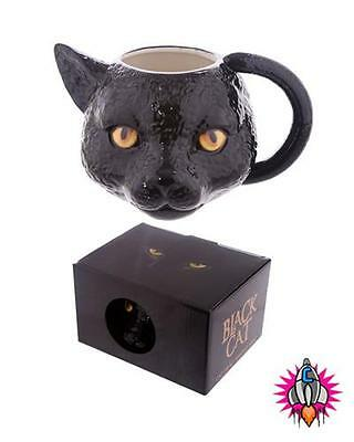 BLACK CAT 3D STYLE ANIMALS COFFEE MUG CUP NEW IN GIFT BOX
