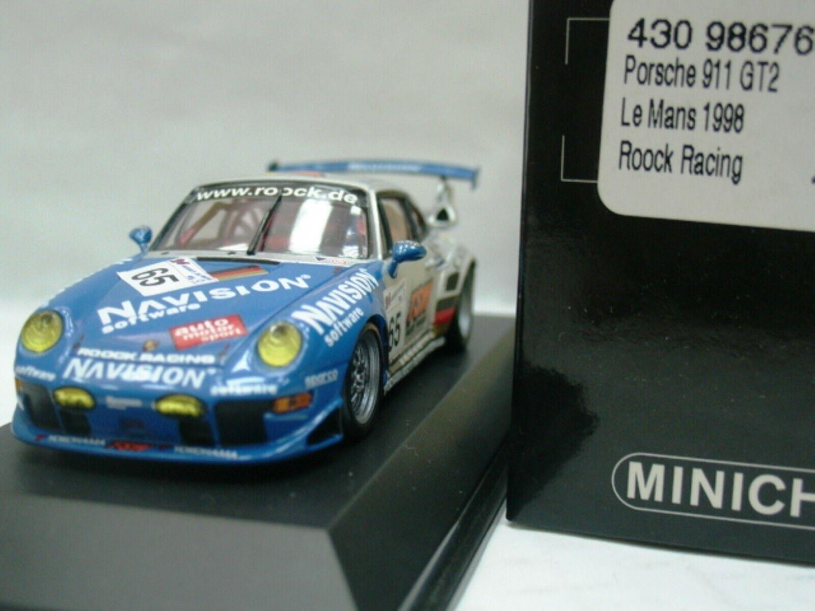 WOW EXTREMELY RARE Porsche 993 911 GT2 Evo2 Evo2 Evo2 LeMans 1998 1 43 Minichamps-RS 3591d6