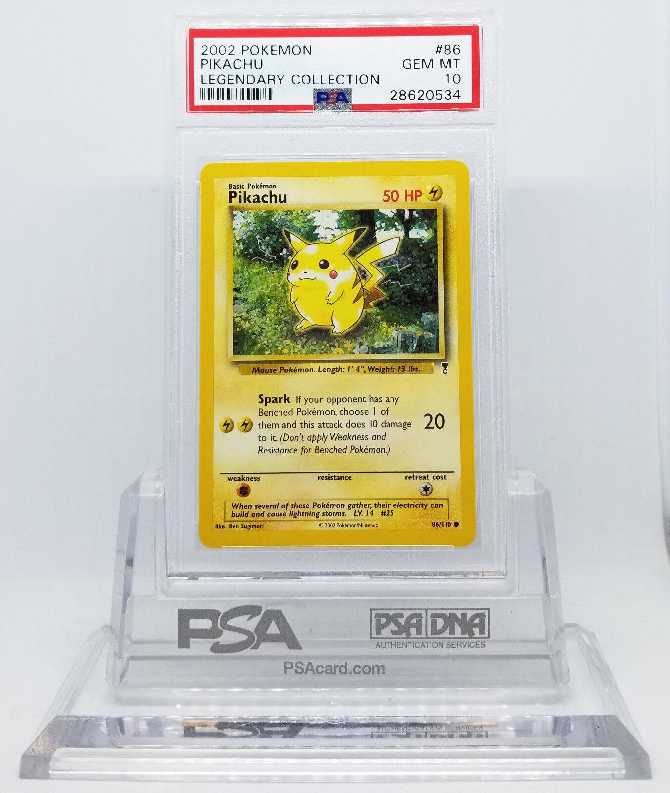Pokémon legendario picacho PSA 10 piedras preciosas menta 35 veces veces veces f58