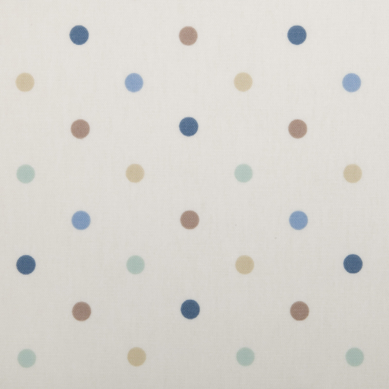 Dotty bluee Brown & Green Polka Dot Spot Oilcloth Wipeclean PVC Vinyl Tablecloth