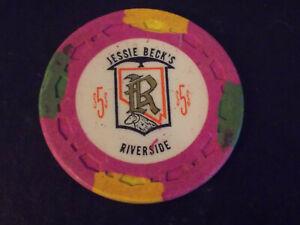Riverside (Jessie Becks) Casino Reno NV $25 Chip 1973