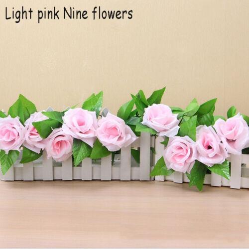 New Artificial Fake Silk Rose Flower Ivy Vine Garland Wedding Party Home Decor