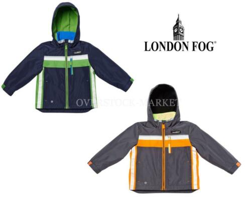 NEW LONDON FOG BOYS FLEECE LINED WATER RESISTANT JACKET W// HOOD 2015 VARIETY!