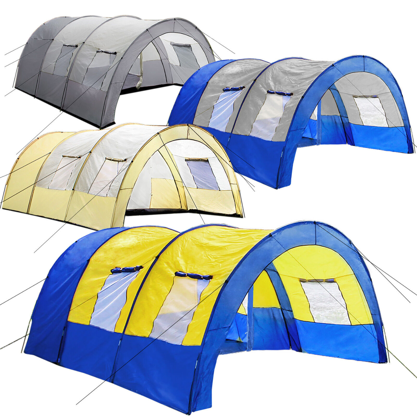 Tunnel Tent 6 Person Large Family Group Water Column Camping new