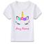 Personalised Name Summer Unicorn Eyes T-Shirt Childrens Kids T Shirt Girls Women