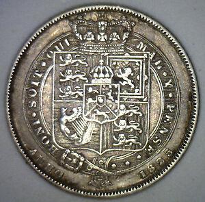 1825-Regno-Unito-ARGENTO-6-pence-sixpence-Gran-Bretagna-Tanner-MONETA-XF