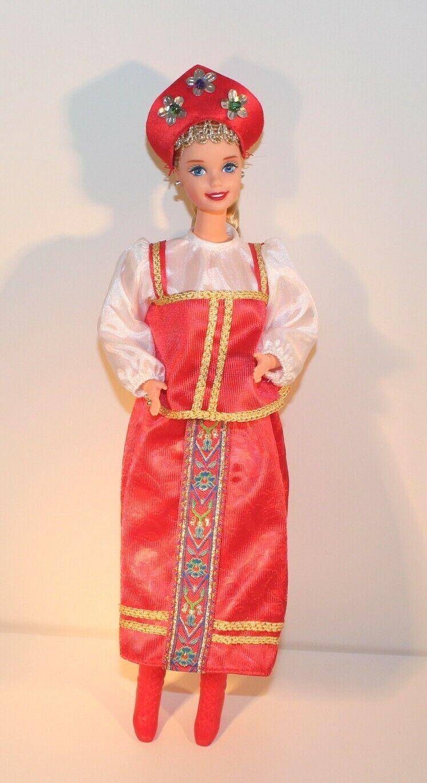 BARBIE Dolls Dolls Dolls of the World RUSSLAND Rußland RUSSIA 2nd Edition 1997 Puppe Mattel 8b2f4a