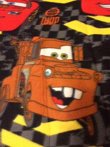 Disney Cars Lightning McQueen Tow Mater Checker Flag  Blanket