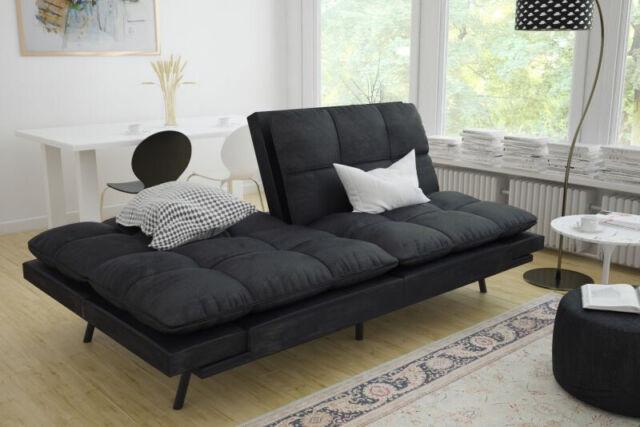 Fantastic Mainstays Memory Foam Futon Black Sleeper Sofa Creativecarmelina Interior Chair Design Creativecarmelinacom