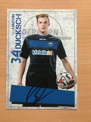 Marvin Ducksch SC Paderborn 2014-15 Autogrammkarte orig 4192 signiert