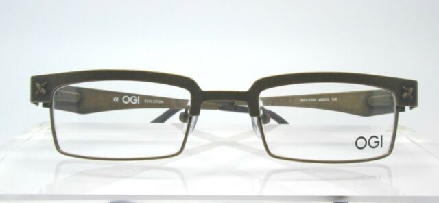 93029a854df OGI EYEWEAR 3501 1393 48-22 Evolution Womens Mens Eyeglasses Frames Retro  Brown