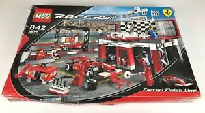 LEGO-RACERS-8672-Ferrari-Finish-Line-complet-BOX-INSTRUCTION-2006