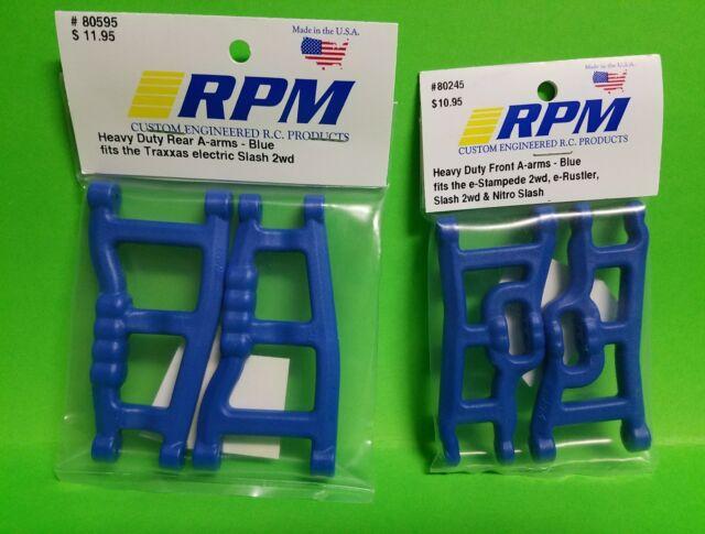 Stampede Rustler VXL RPM 80245 Front A-Arms Blue Slash 2wd Nitro Slash